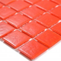Glasmosaik Fliesen Rot Uni 20x20x4mm
