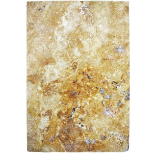 Natursteinfliesen Travertin Castello Gold 40,6x61cm